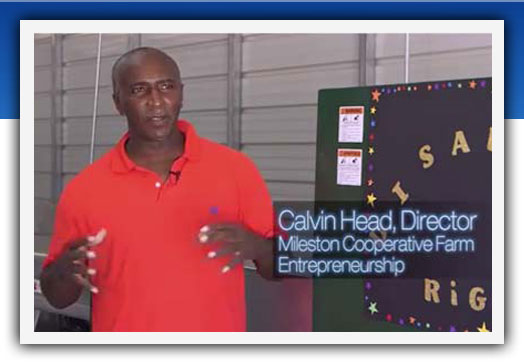 Calvin Head, director of Mileston Cooperative Farm Entrepreneurship